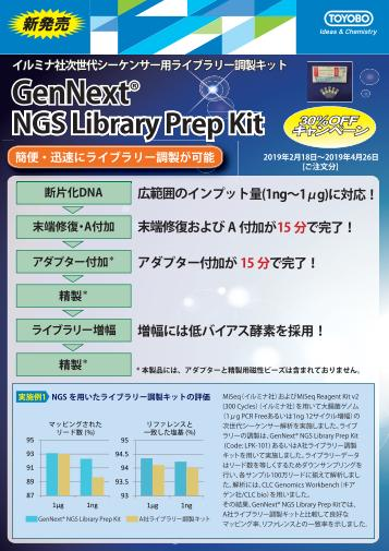 GenNext NGS Library Prep Kit 30%OFFキャンペーン画像
